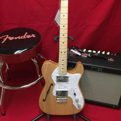 Fender Classic Series '72 Telecaster Thinline Natural - with 3 packs of Fender strings for sale