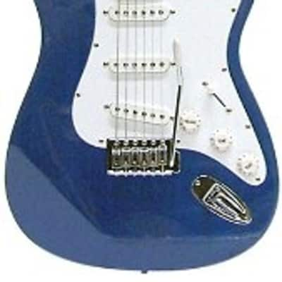 Crestwood ST920MBL Solid Body Electric Guitar - Metallic Blue for sale
