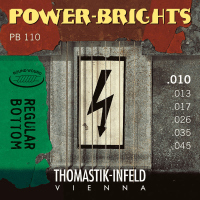 Thomastik-Infeld PB45 Power Brights Regular Bottom Magnecore Round-Wound Guitar String - E (.45)