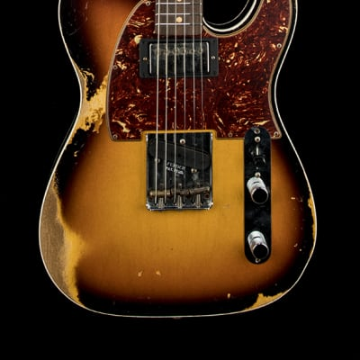 Fender Custom ShopLimited Edition 60's HS Tele Custom Heavy Relic - Super Faded Aged 3-Color Burst for sale