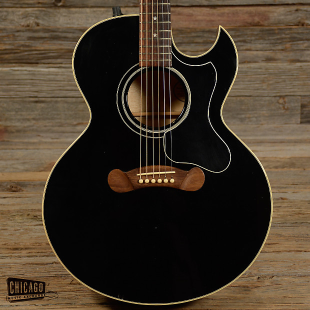 gibson star acoustic electric guitar black 1991 s020 reverb. Black Bedroom Furniture Sets. Home Design Ideas