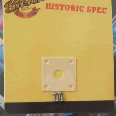 Gibson Historic Spec Jack Plate Square Creme PRJP-059 image