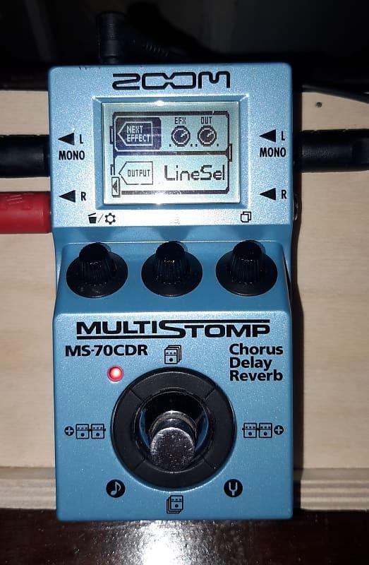 zoom ms 70cdr chorus delay reverb pedal reverb