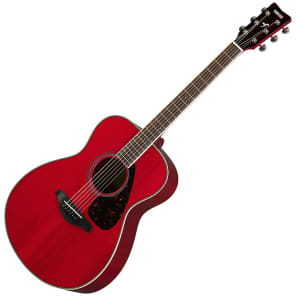Yamaha FS820-RR Solid Spruce Top Concert Acoustic Guitar Ruby Red