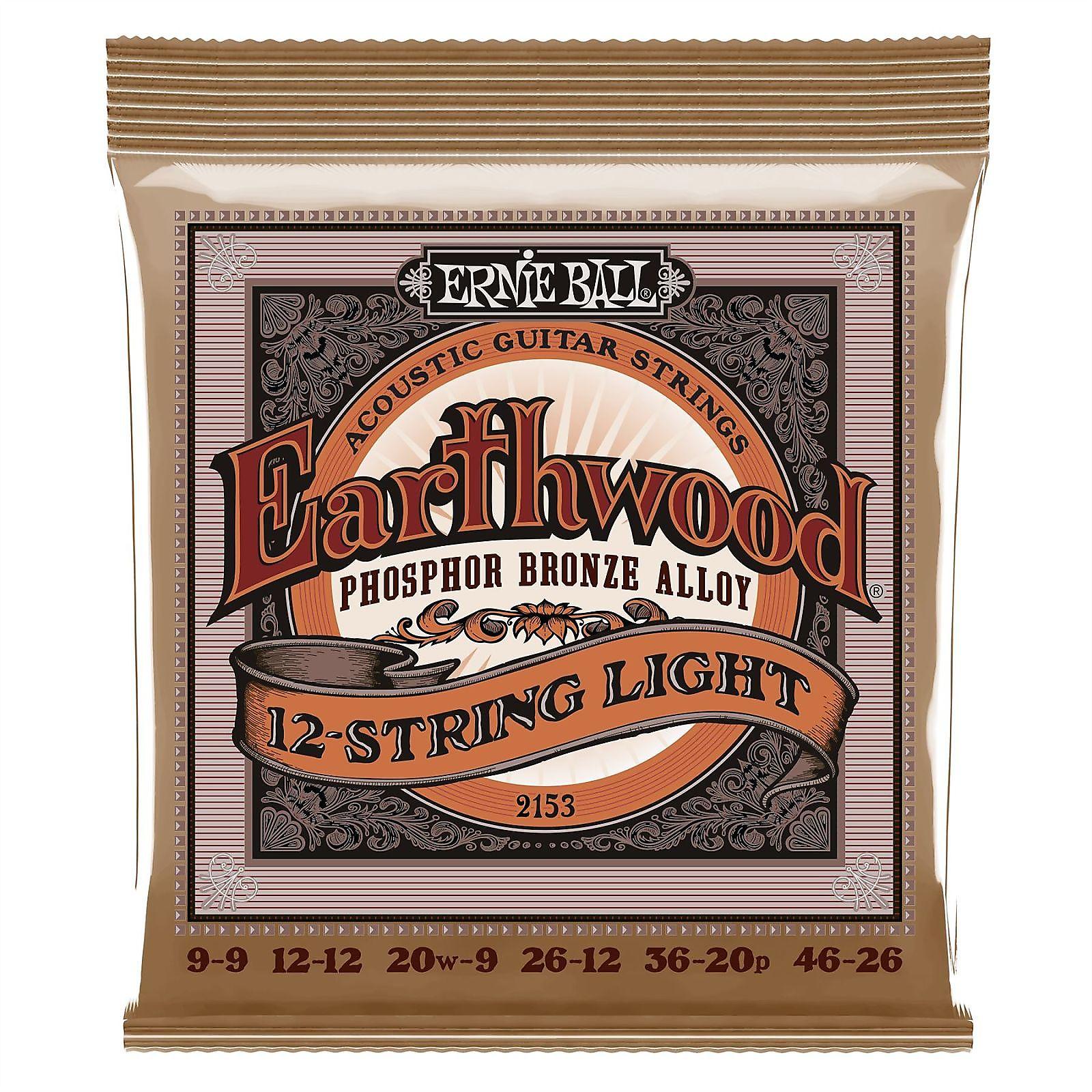3 Pack Ernie Ball 2544 Everlast Medium Phosphor Bronze Coated Acoustic Strings