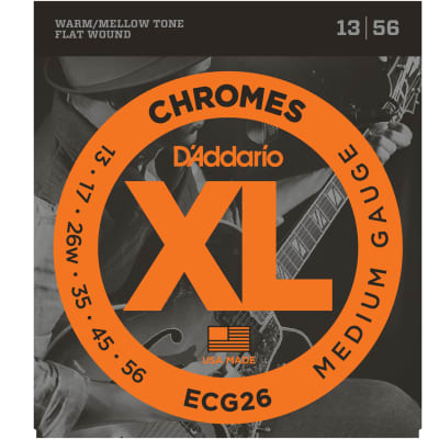 D'Addario ECG26 Chromes Flat Wound Medium 13-56