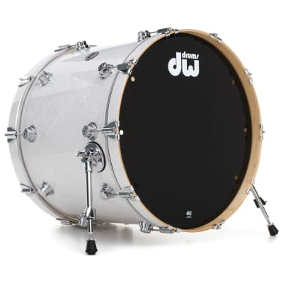DW Collector's Series Finish Ply 5-piece Drum Shell Pack, White Crystal