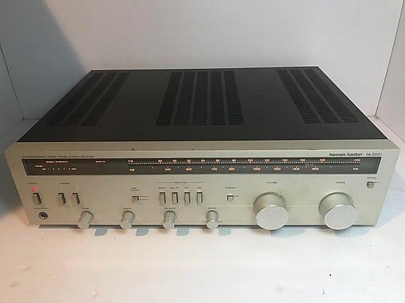 Harman Kardon HK 350i 1981 Silver Face vintage stereo receiver