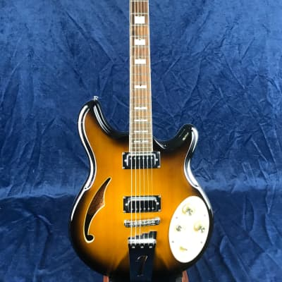 Italia Rimini 6 Semi-Hollow Electric Guitar 2 Tone SB Pre-owned for sale