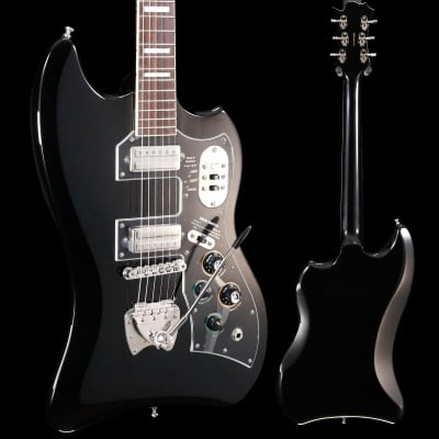Guild S-200 T-Bird w Deluxe Padded Bag, Black 355 7lbs 13.6oz for sale