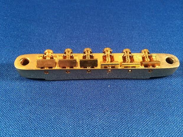 Genuine Gibson ABR-1 1950's Gold Bridge w/ Saddles & Screws - NO WIRE -  Excellent Condition