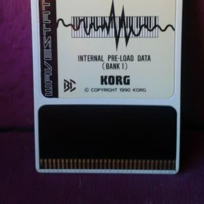 KORG KORG WAVESTATION 1990 ROM CARD WPC 00PI INTERNAL PRE LOAD DATA BANK 1 80S-90S WHITE YELLOW CREA