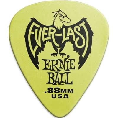 Ernie Ball 9191 Everlast Pick, .88mm, Green, 12 Pack for sale