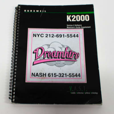 Kurzweil K2000 Version 3 Software Musicians Manual Guide