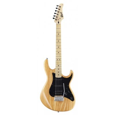 Cort G200DX NAT G Series Double Cutaway Ash Body HSS, 2-Point Tremolo Natural Glossy