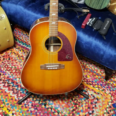 Epiphone Texan Peter Frampton limited edition factory LR baggs  2018 Ice tea burst for sale