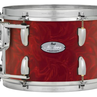 "Pearl Music City Custom 18""x16"" Masters Maple Reserve Series Floor Tom Drum MRV1816F - Cranberry Satin Swirl"