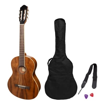 Martinez 'Slim Jim' 3/4 Size Student Classical Guitar Pack with Built In Tuner (Rosewood) for sale