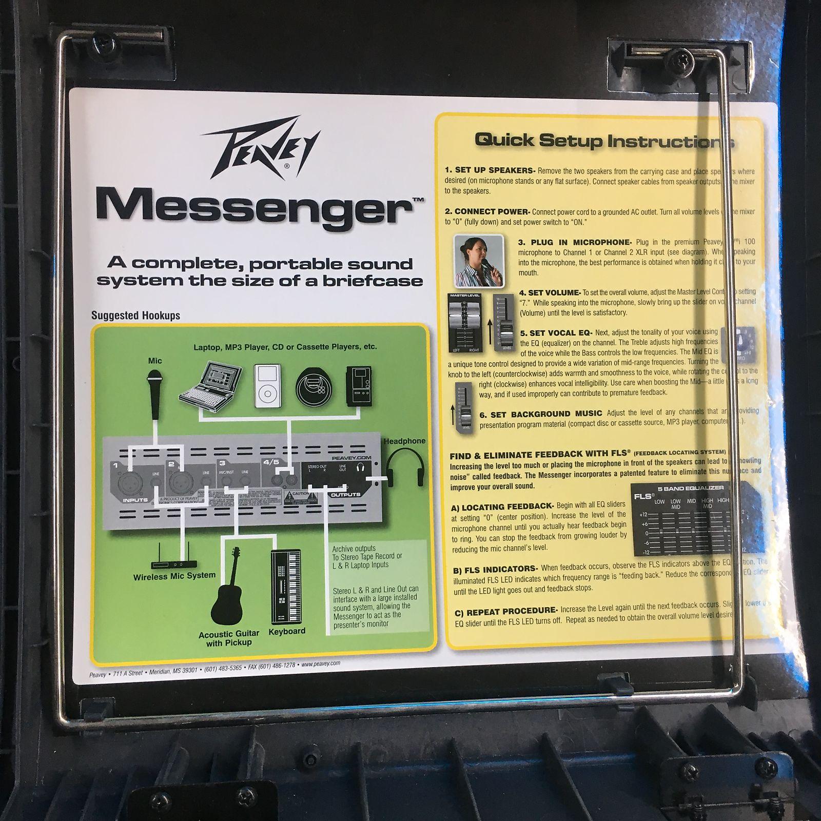 Peavey Messenger Portable Sound System 1 Set