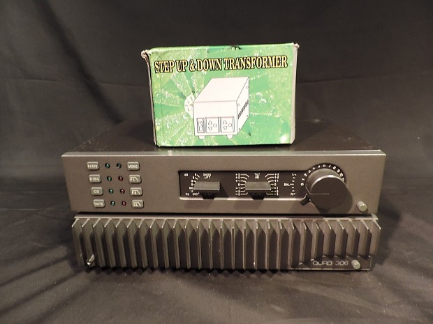 Quad Electroacoustics Quad 34 Control Unit & Quad 306 Amp with Transformer