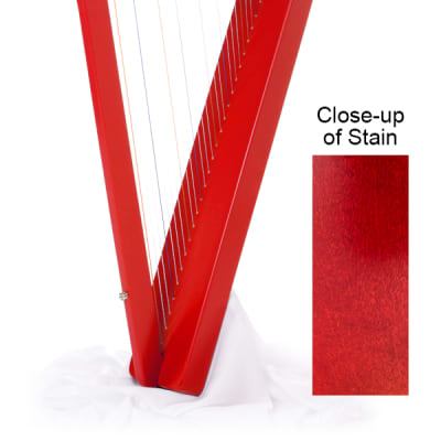 Rees Harps Harpsicle Harp Red - 26 strings, No levers