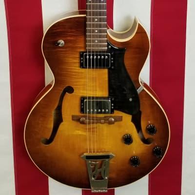 2000 Heritage H-575 - Flame Maple Top - Antique Sunburst - Heritage Case for sale
