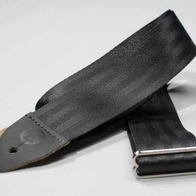 Reverb Seatbelt Guitar Strap - Black -Made in the USA image