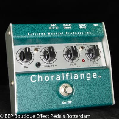 Fulltone Choralflange Chorus and Flanger s/n 3980 as used by Ruben Block ( Triggerfinger )