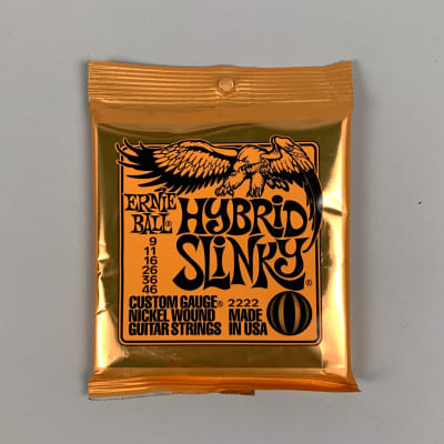 Ernie Ball Hybrid Slinky Nickel Wound Electric Guitar Strings, 09-46