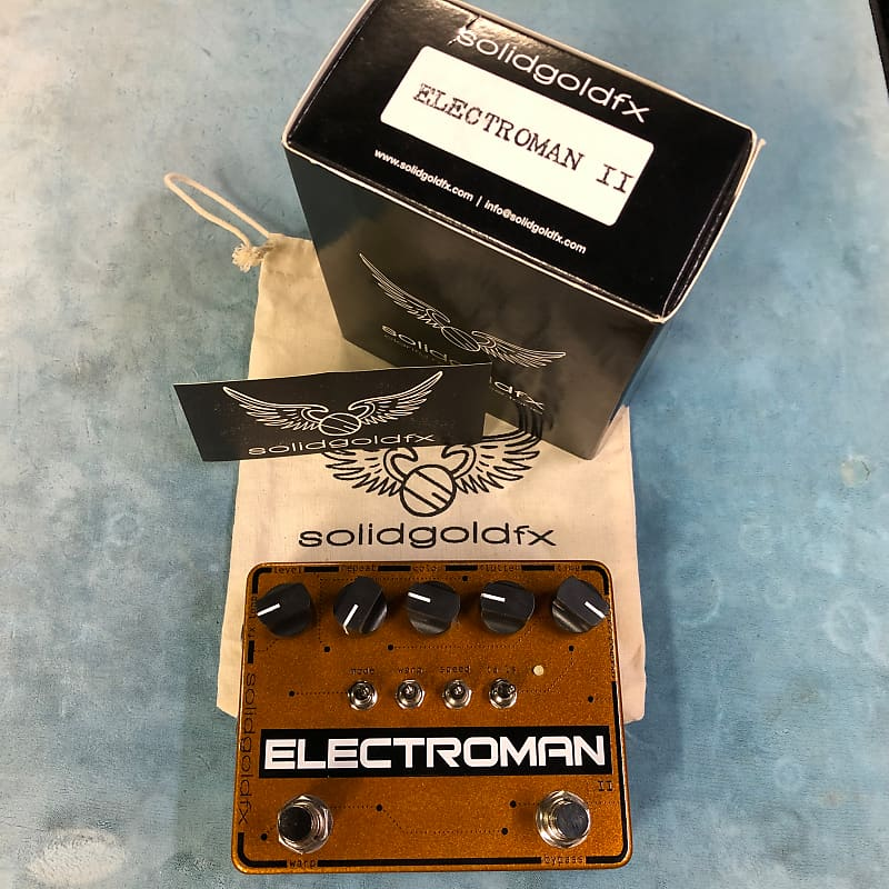 SolidGoldFX Electroman MKII Modulated Delay Effects Pedal w/ Box