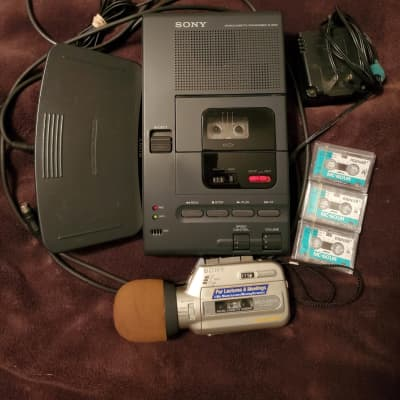Sony M-2000 Microcassette Recorder & Sony Mic'n Micro M-100MC dictaphone & More Loops