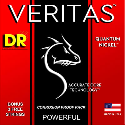 DR Veritas Electric Quantum Nickel 10-46 Corrosion Proof Pack VTE-10 10 13 17 26 36 46 W/Bonus of 3