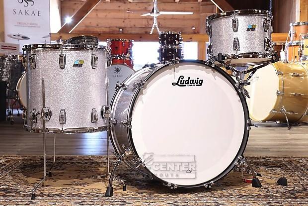 Ludwig Classic Maple 3pc Rock Drum Set Silver Sparkle Reverb