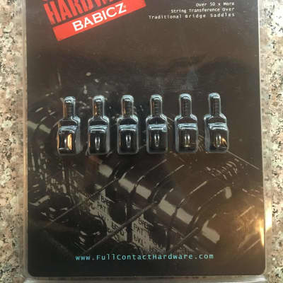 Babicz Full Contact Hardware Strat Saddles  Black