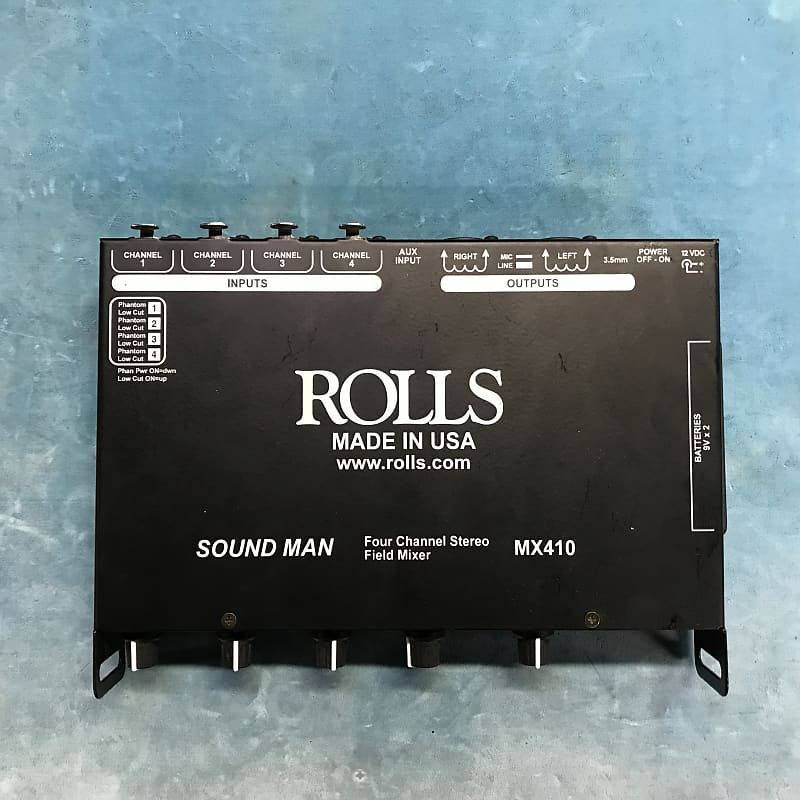 Rolls MX410 4-Channel Microphone Mixer w/ Power Supply