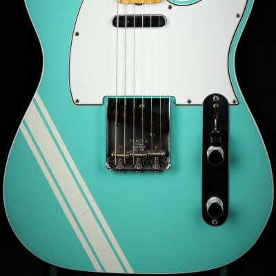 Fender Custom Shop Master Built 1967 Telecaster Relic - Seafoam Green Comp Stripe/2019 FCS Summer Sh for sale