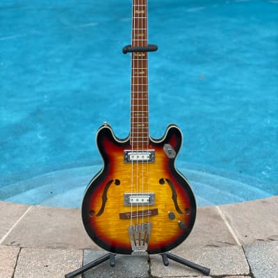 Vintage Rare 1960's Strad-O-Lin Hollow Body Bass Made in Japan for sale