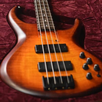 MTD 435 21 Flame Maple Red Burst Michael Tobias USA 4 string Bass w Orig Hard Case for sale