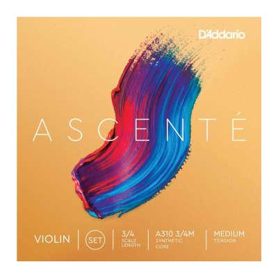 D'Addario Ascente Violin A310 3/4M Medium Tension