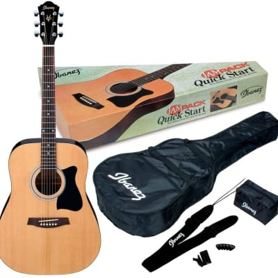 Ibanez IJV50 JamPack Dreadnought Acoustic Guitar Pack - Natural for sale