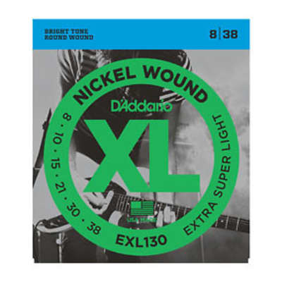 D'Addario EXL130 Electric Guitar Strings 8-38