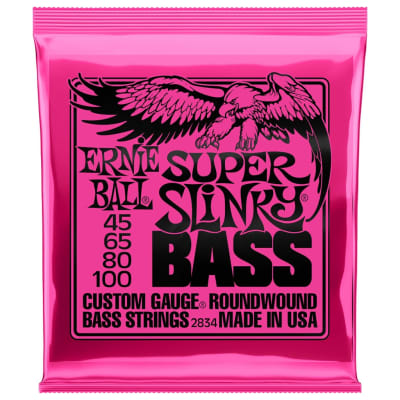 Ernie Ball Super Slinky 45-100 4-String Bass Guitar Strings