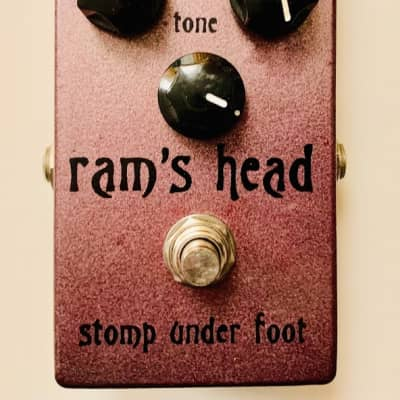 RARE SIGNED #131 Stomp Under Foot Ram's Head (Violet Version) Fuzz Pedal