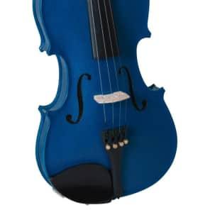 Bellafina BVI15012OFBL Rainbow Series 1/2-Size Violin Outfit