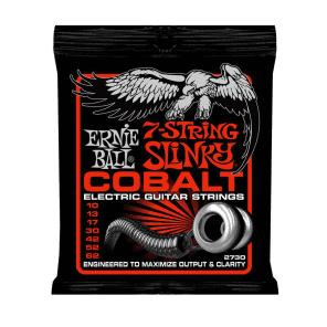 Ernie Ball 2730 Cobalt 7-String Skinny Top Heavy Bottom Strings, .010 - .062