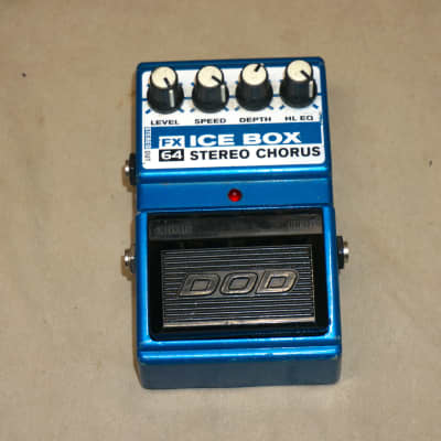 DOD FX64 Ice Box Stereo Chorus Guitar Effects Pedal Blue - missing battery cavity cover for sale