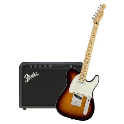 Fender Player Telecaster 3 Tone Sunburst Maple Neck & Fender Mustang GT 40 Bundle for sale