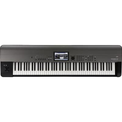 Korg Krome EX 88-Key Music Workstation Natural Weighted Hammer Action Keyboard with New Programs and PCM Data
