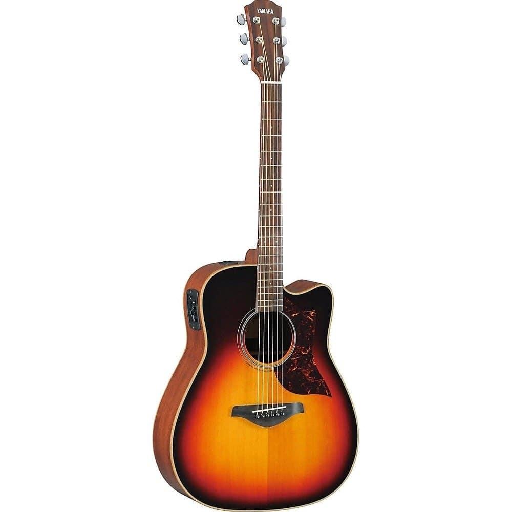 Yamaha a1mvshc dreadnought acoustic electric guitar with for Yamaha acoustic electric guitar