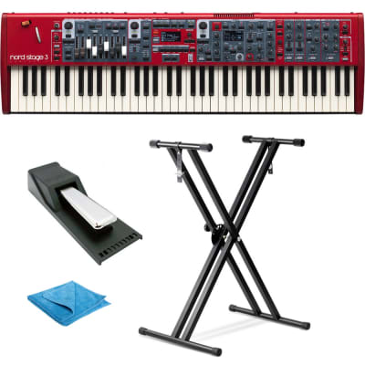 Nord Stage 3 Compact 73-Key Semi Weighted Keybed w/Drawbars,Stand,Pedal & Cloth